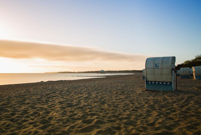 Ostseestrand Sonnenuntergang